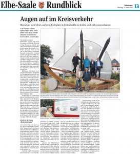 Pressemitteilung zum neu gestalteten Kreisverkehr in Schönebeck