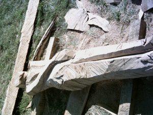 Fertigstellung der Holzskulptur