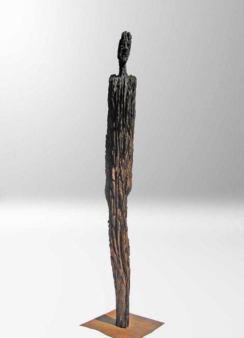 Eiche 400 Jahre alt, Kettensäge, Holz
