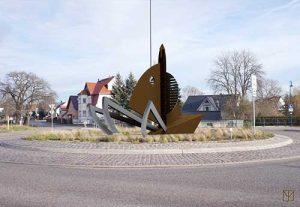 Skulptur im Kreisverkehr