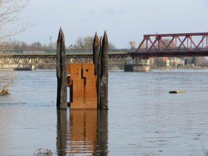 Winterhochwasser in Schönebeck