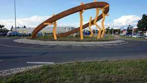 Entwurfsskizze zum Kunst im Kreisverkehr in Schönebeck Ringheiligtum